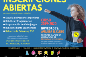 anuncio INSCRIPCION 2019 Zona de Ciencias – facebook